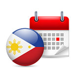 Icon of National Day in Philippines