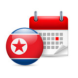 Icon of National Day in North Korea