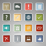 Colored set web buttons retro style