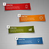 Info graphic colored striped paper template