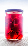 Canned maraschino cherry