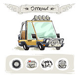 Cartoon Beach SUV Set