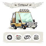 Cartoon Beach SUV Set