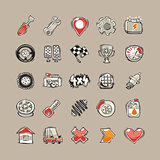 Doodle Cars Icons