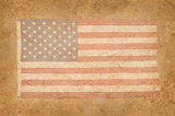 Grungy American Flag with mottled texture