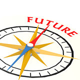 Compass with future word