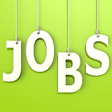 Jobs word in green background