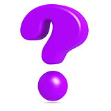 Purple question mark