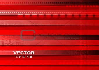 Bright red tech vector background