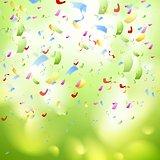 Bright shiny confetti abstract design template