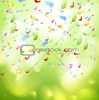 Bright shiny confetti abstract design template