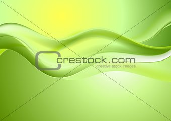 Abstract bright waves design