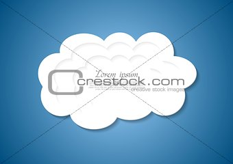 Abstract white cloud background