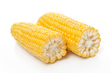 Corn Cob in half