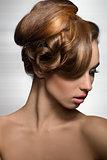 woman with elegant stylish hairdo
