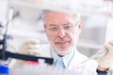Life scientist in laboratory
