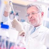 Life scientist in laboratory