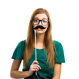 Girl with Mustache