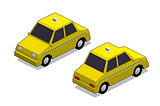 Orthographic yellow cab
