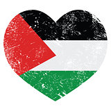 The State of Palestine retro heart shaped flag