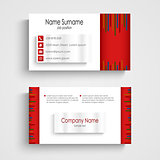Modern red light business card template