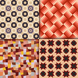 Retro style geometric patterns background