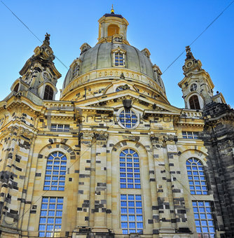 Church Frauenkirche front  in Dresden Germany