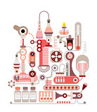Chemical Laboratory vector illustration