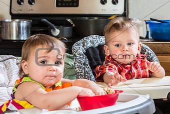 Baby Reaches for Cereal