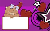 teddy bear baby girl cartoon copyspace