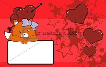 fox baby girl cartoon copyspace
