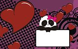 panda baby girl cartoon copyspace