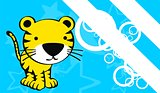 tiger cute baby cartoon background