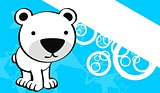polar teddy bear cute baby cartoon background