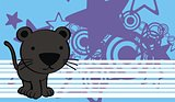 panther cute baby cartoon background