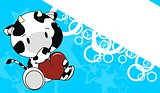 cow baby love cartoon background