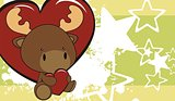 reindeer baby love cartoon background