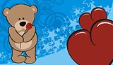 teddy bear valentine background