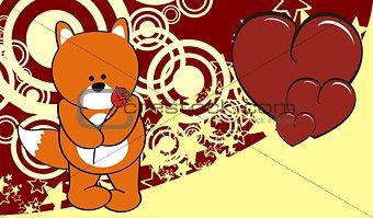 fox valentine background
