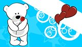 polar bear valentine background