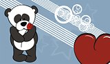 panda bear valentine background