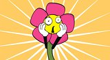 flower cartoon background