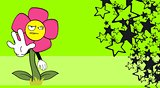 flower  cartoon background4