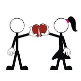 pictograms love stick man and girl vector7