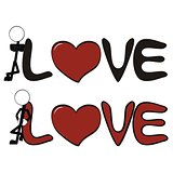 pictograms love stick man and girl vector8