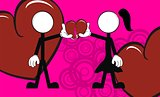 pictograms love stick man and girl background6