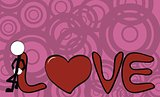pictograms love stick man and girl background7