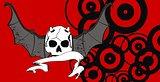 skull winged rocker style background