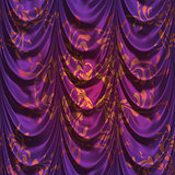 Violet decorative curtain