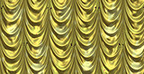 Yellow curtain with cartoon stars